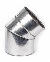 Дымоходное колено с термоизоляцией к/к 45°, 0.5мм