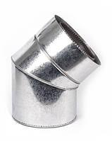 Дымоходное колено с термоизоляцией к/к 45° 1мм