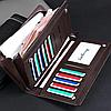 Мужской стильный кожаный портмоне кошелек Baellerry Italia, фото 3