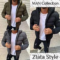 Куртка мужская зимняя стеганая с капюшоном, фото 1