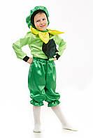 Детский карнавальный костюм для мальчика Подсолнух «Малыш» 100-110 см, желто-зеленый, фото 1
