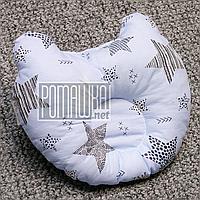 Ортопедическая подушка Мишка для малышей младенцев грудничков новорожденных детей в кроватку 4656 Голубой