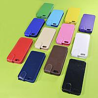 Откидной чехол из натуральной кожи для Apple iPhone 5