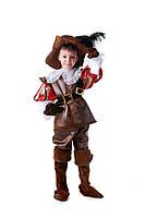 Детские карнавальный костюм для мальчика «Д'Артаньян» 120-135 см, коричневый