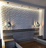 Декоративні гіпсові панелі 3D Gipster «Камінь/Цегла», фото 7