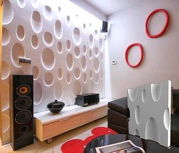 """Гіпсова 3d панелі для стін """"CHEESE"""" (декоративна стінова 3d панель)"""