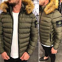 Мужская зимняя куртка короткая