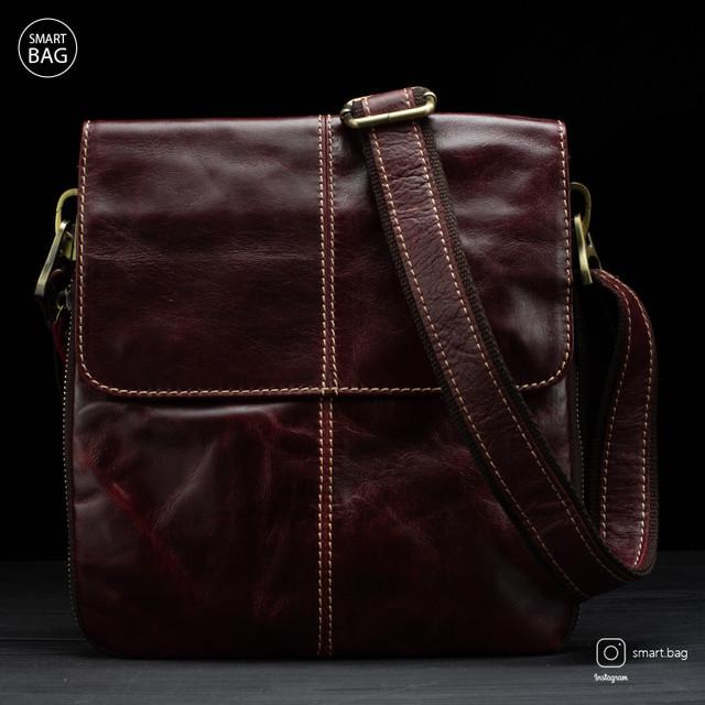 Мужская кожаная сумка Marrant | бордовая
