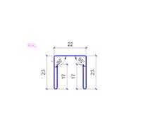 Планка п образная 0,5 мм МАТ- для забора из профнастила С-20