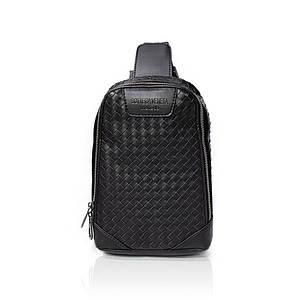 Рюкзак-слинг от Bottega Veneta натуральная кожа Черный AAA Copy
