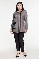Женская туника теплая повседневная качественная 52-58 р серого цвета