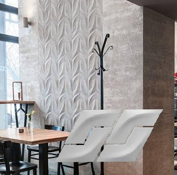 """Гіпсова 3d панелі для стін """"Бумеранг"""" (декоративна стінова 3d панель)"""