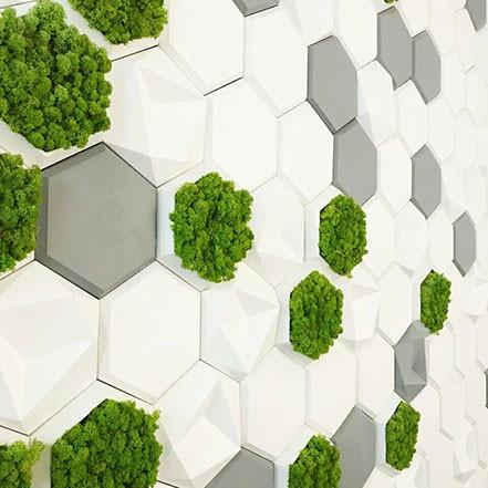"""Гіпсова 3d панелі для стін """"Соти об'ємні"""" (декоративна стінова 3d панель)"""