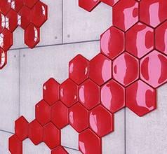 """Гипсовая 3d панель для стен """"Соты гладкие"""" (декоративная стеновая 3д панель)"""