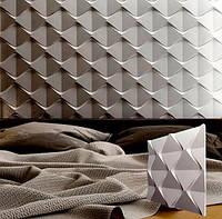 """Гипсовая 3d панель для стен """"Пирамидки"""" (декоративная стеновая 3д панель)"""
