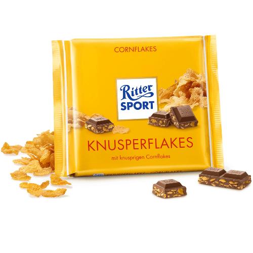 Молочний шоколад Ritter Sport Кукурудзяні пластівці 100 г