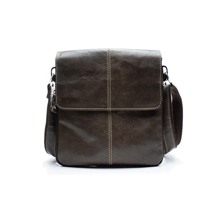 Мужская кожаная сумка Marrant Темно-зеленый
