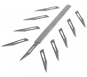 Скальпеля, лезвия, ручки для лезвий