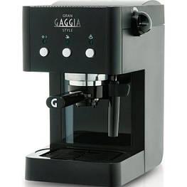 Рожковая кофеварка эспрессо Gaggia Gran Style Black (RI8423/11) (уценка)