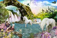 Фотообои   Сказочный лес, единороги  арт. 211220187