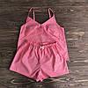 Красная женская пижама из хлопка в клеточку XS