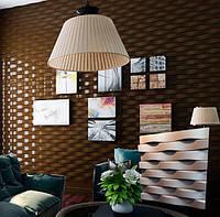 """Гипсовая 3d панель для стен """"Кирпичики"""" (декоративная стеновая 3д панель)"""