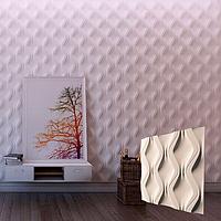 """Гипсовая 3d панель для стен """"Змейка"""" (декоративная стеновая 3д панель)"""