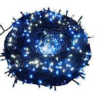 Внутренняя Гирлянда светодиодная нить 40м, 1000 led  черный провод - цвет синий