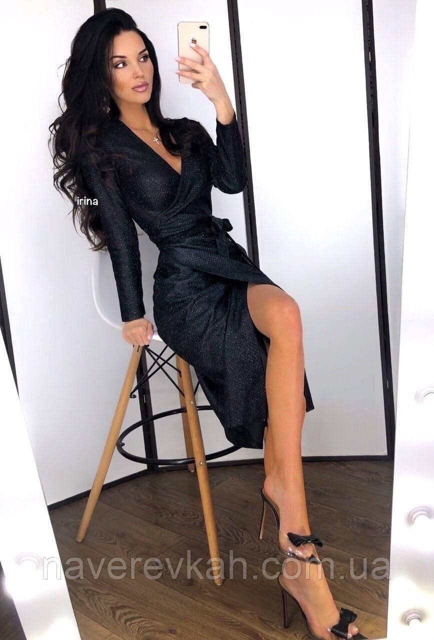 Женское платье люрекс золото чёрный серебро S-М М-L