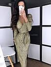 Женское платье люрекс золото чёрный серебро S-М М-L, фото 5