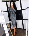 Женское платье люрекс золото чёрный серебро S-М М-L, фото 6