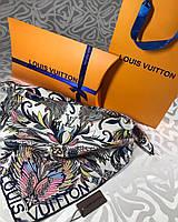Брендовый шёлковый платок в стиле Луи Витон