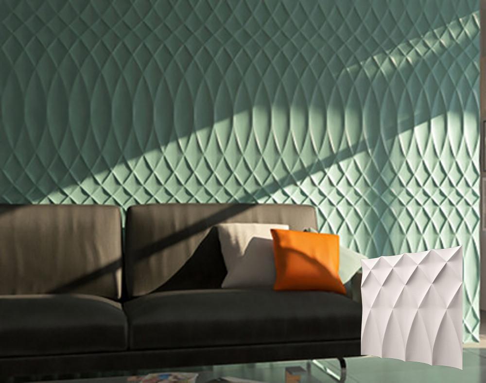 """Гіпсова 3d панелі для стін """"БУФ"""" (декоративна стінова 3d панель)"""