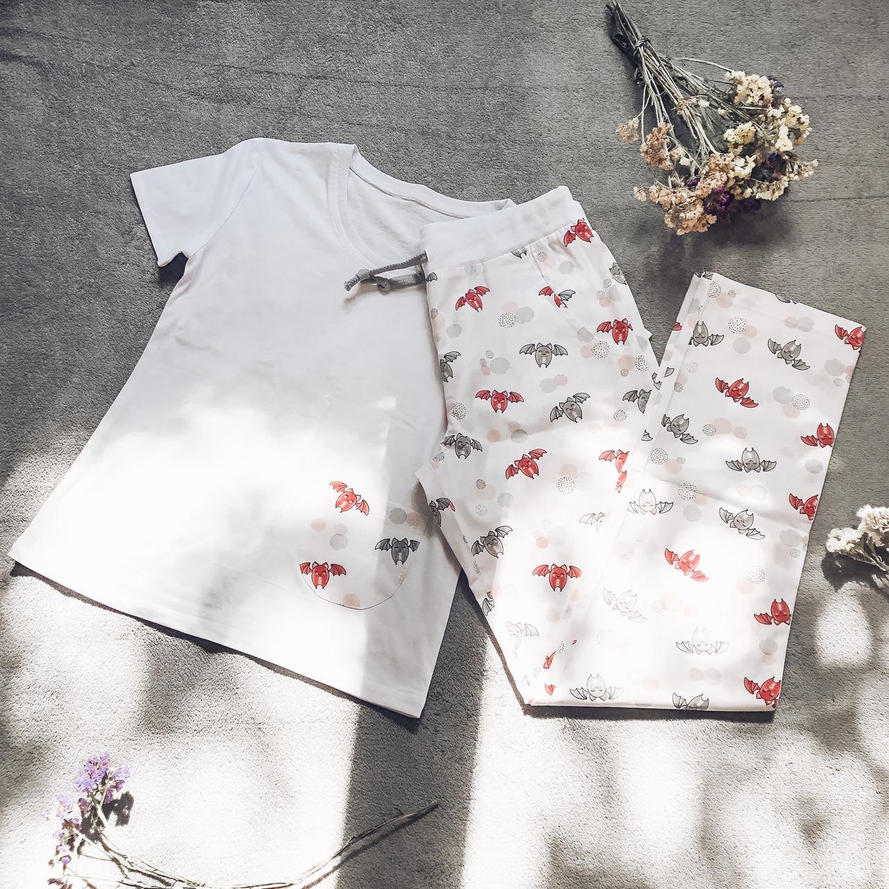 Детская пижама с футболкой Летучие Мыши 134 см