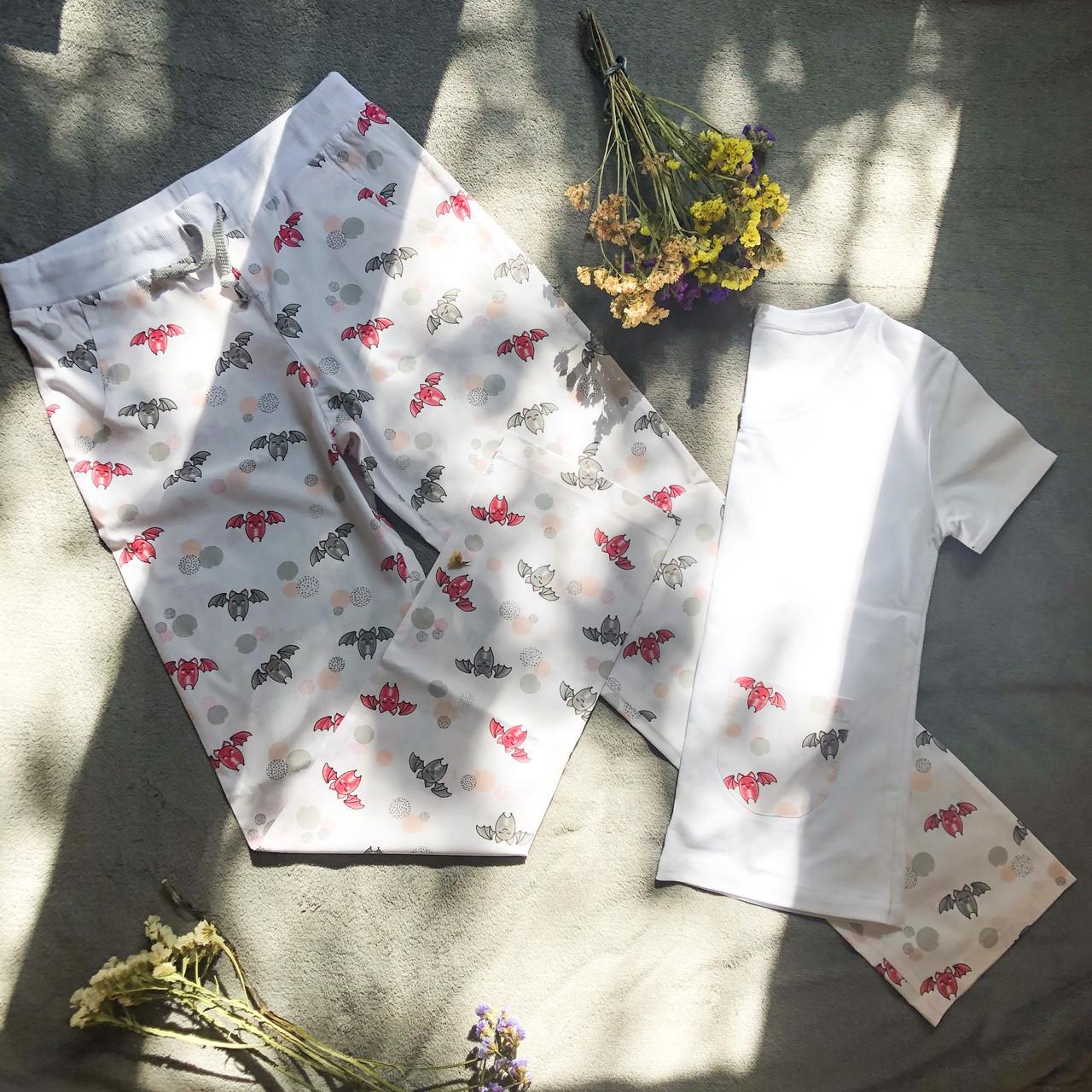 Детская пижама с футболкой Летучие Мыши 128 см