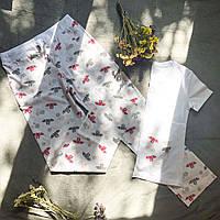 Детская пижама с футболкой Летучие Мыши 128 см, фото 1