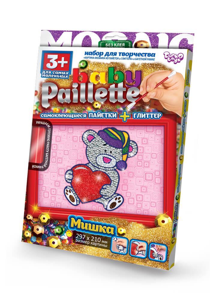 Набір для творчості гліттер+паєтки Ведмедик Baby Paillette (РG-01-01)
