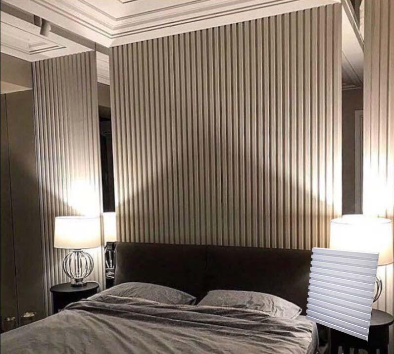 """Гипсовая 3d панель для стен """"Параллели"""" (декоративная стеновая 3д панель)"""