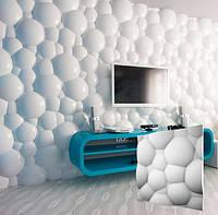 """Гипсовая 3d панель для стен """"Пузыри"""" (декоративная стеновая 3д панель)"""