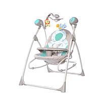 Кресло-качалка шезлонг мятно-бежевая питание от сети и батареек CARRELLO Nanny  CRL-0005