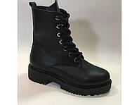 Кожаные высокие зимние ботинки тм. Lonza, фото 1