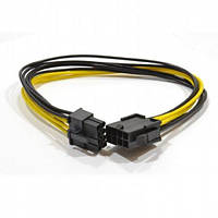 Кабель Cablexpert 6+2-pin power to 8 pin, 0.3m extender, (CC-PSU-84)