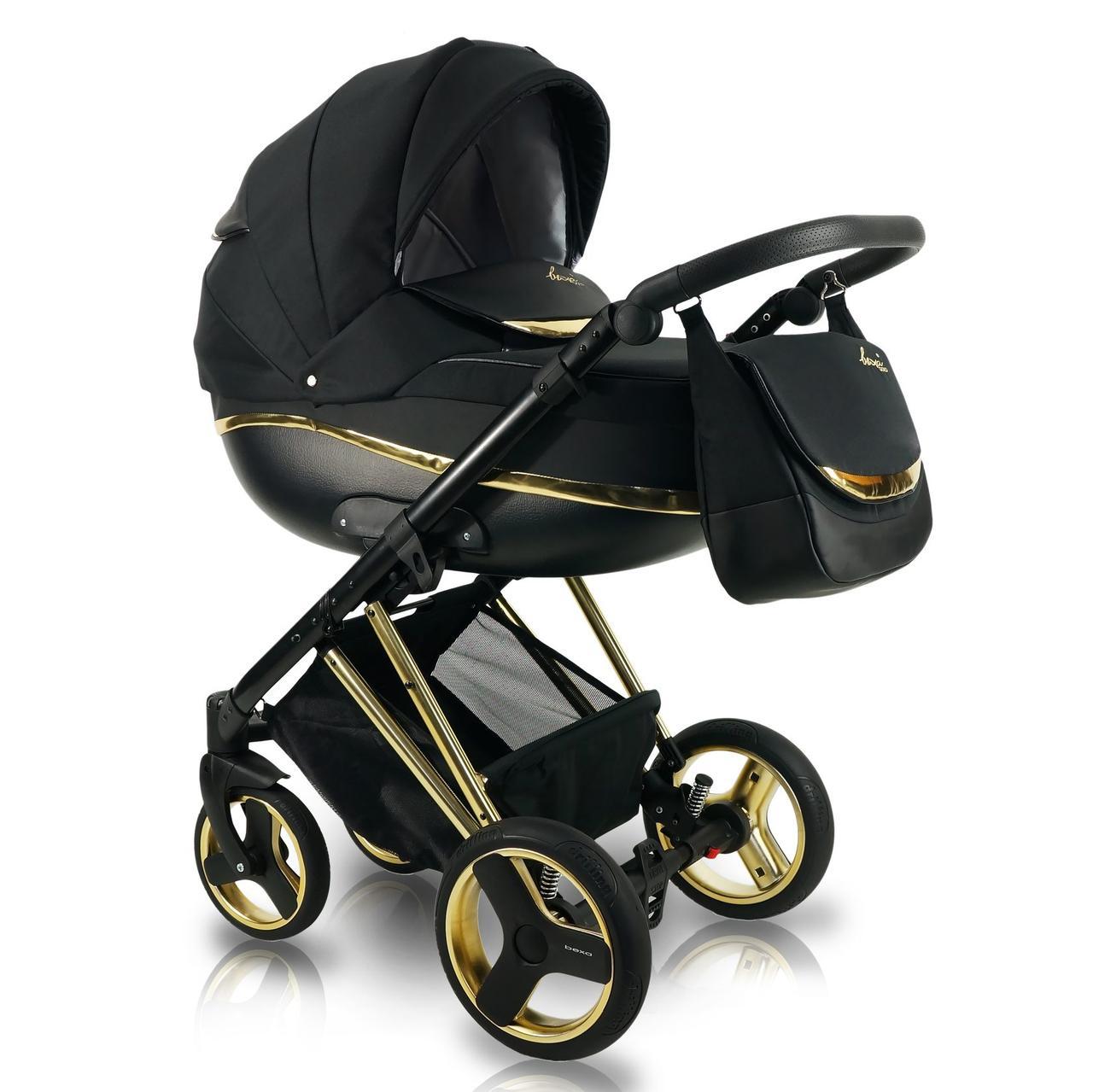 Универсальная детская коляска 2 в 1 Bexa Next Gold черная