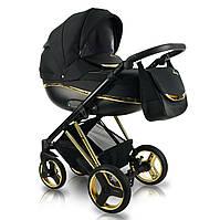 Детская коляска универсальная 2 в 1 Bexa Next Gold черная  БЕСПЛАТНАЯ ДОСТАВКА!
