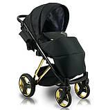 Универсальная детская коляска 2 в 1 Bexa Next Gold черная, фото 2
