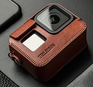Кожаный чехол Telesin для GoPro 8 Black