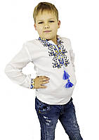 Детская вышиванка для мальчика из натуральных тканей «Дерево жизни», фото 1
