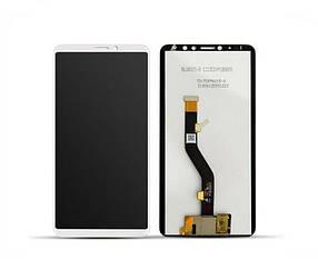 Дисплей (экран) для Meizu Note 8 с сенсором (тачскрином) белый Оригинал