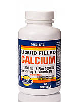 Basic's Liquid Filled Calcium 1200mg + Vit D3 1000iu 60 softgel