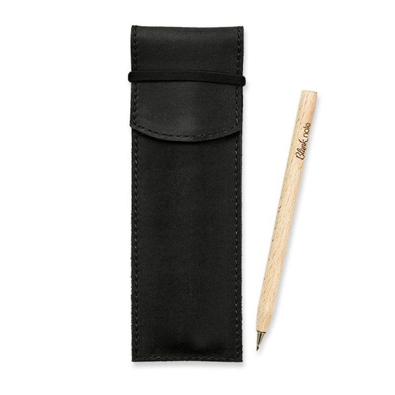 Кожаный чехол для ручек 1.0 черный